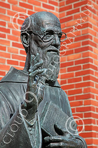 STY-JesP 00004 An extremely well done detail rich scholarly looking Jesuit priest, statue picture by Peter J Mancus