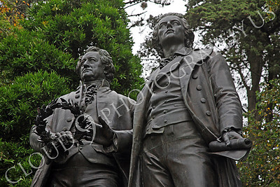 Sty - Goethe 00002 Friedrich von Schiller and Johann Wolfgang von Goethe, distinguished German authors, by Peter J Mancus