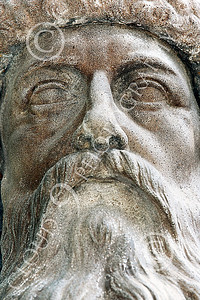 STY - GUTENBERG 00005 A detailed close up of the face of a Johannes Gutenberg statue, by Peter J Mancus