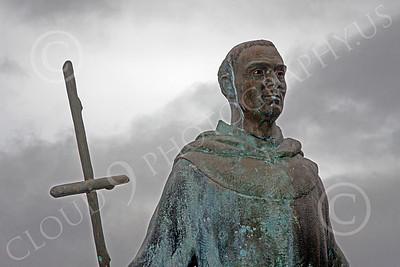 SMRSTY 00150 Spanish Franciscan friar Junipero Serra, at Mission Carmel, by Peter J Mancus