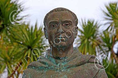 SMRSTY 00016 Spanish Franciscan friar Junipero Serra, at Mission Carmel, by Peter J Mancus