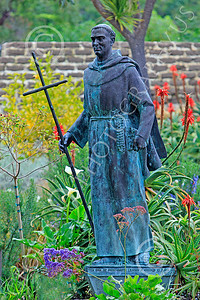 SMRSTY 00041 Spanish Franciscan friar Junipero Serra, at Mission Carmel, by Peter J Mancus