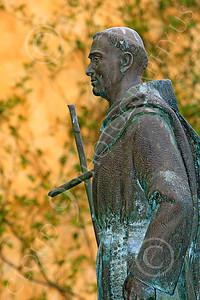 SMRSTY 00037 Spanish Franciscan friar Junipero Serra, at Mission Carmel, by Peter J Mancus