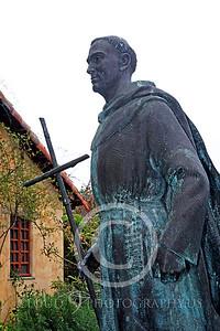 SMRSTY 00165 Spanish Franciscan friar Junipero Serra, at Mission Carmel, by Peter J Mancus