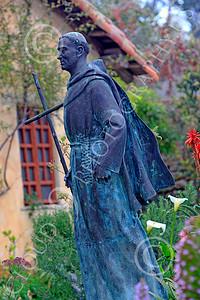SMRSTY 00029 Spanish Franciscan friar Junipero Serra, at Mission Carmel, by Peter J Mancus