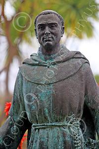 SMRSTY 00023 Spanish Franciscan friar Junipero Serra, at Mission Carmel, by Peter J Mancus