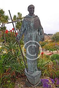 SMRSTY 00155 Spanish Franciscan friar Junipero Serra, at Mission Carmel, by Peter J Mancus