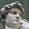 "STY-David 022 Michelangelo's ""David's"" lower right eye lid is chipped, detail close up statue picture by Peter J  Mancus"