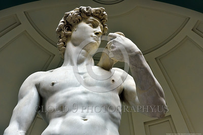 "STY-David 024 Michelangelo's masterful 14 feet tall of statue of Biblical hero ""David"", slayer of Goliath the giant, shows convincing human male muscular structure, statue picture by Peter J  Mancus"