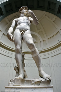 "STY-DAVID 009 A vertical wide angle view of Michelangelo's world famous awesome statue of ""David"", statue picture by Peter J  Mancus"