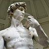 "STY-David 036 Michelangelo was only 26 years old and the most famous and best paid artist of his day when he created his 14 foot tall masterpiece, ""David"", statue picture by Peter J  Mancus"