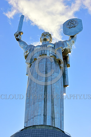 """STY-Motherland 0005 The sword, 52 feet long and 9 tons, is a small part of this 335 feet tall 560 tons stainless steel statue, """"Mother Motherland"""", memorial to mothers in Kiev, Ukraine, picture by Peter J  Mancus"""