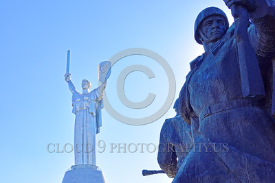 "STY-Motherland 0020 The ""Mother Motherland"" statue in Kiev, Ukraine, with massive Soviet Army World War II era soldier statues below, picture by Peter J  Mancus"