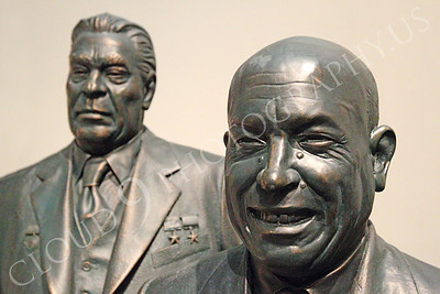 STY - Khrushchev 00002 Two communist Soviet Union Cold War era dictators, Leonid Brezhnev and Nikita Khruschchev, by Peter J Mancus