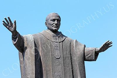 STY - POPEJP 00002 An excellent artistic representation of the beloved Roman Catholic Pope John Paul, by Peter J Mancus