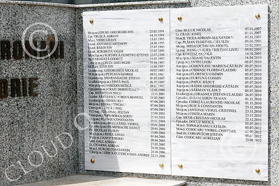 STY-RomMil 00017 In memory and honor of Romania's military heroes who died on duty, at base of an impressive statue in Bucharest, picture by Peter J Mancus