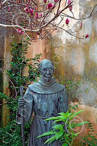 SMRSTY 00083 A Spanish Franciscan friar, at Mission Carmel, by Peter J Mancus