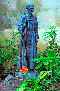 SMRSTY 00053 A Spanish Franciscan friar, at Mission Carmel, by Peter J Mancus