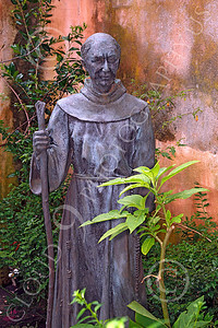SMRSTY 00075 A Spanish Franciscan friar, at Mission Carmel, by Peter J Mancus