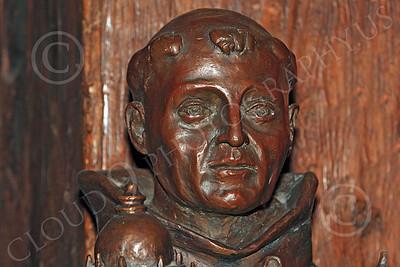 SMRSTY 00026 A senior Spanish Franciscan friar, at Mission Carmel, by Peter J Mancus