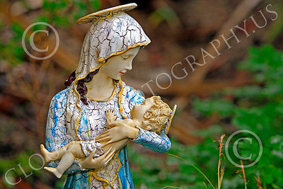SMRSTY 00008 The Virgin Mary holds the infant Jesus, at Mission Carmel, by Peter J Mancus
