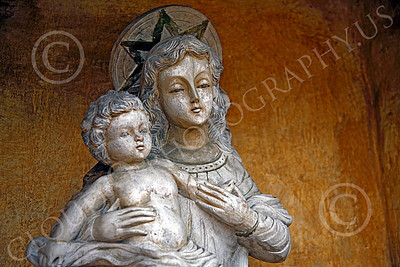 SMRSTY 00028 The Virgin Mary, human mother of Jesus Christ, at Mission Carmel, by Peter J Mancus