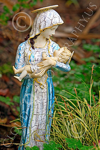 SMRSTY 00007 The Virgin Mary holds the infant Jesus, at Mission Carmel, by Peter J Mancus