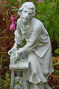 SMRSTY 00009 A Christian laborer, at Mission Carmel, by Peter J Mancus