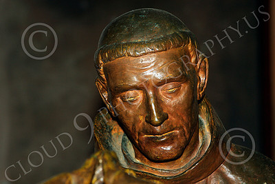 SMRSTY 00020 Close up portrait of a Spanish Franciscan friar, at Mission Carmel, by Peter J Mancus