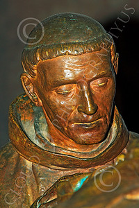 SMRSTY 00027 A Spanish Franciscan friar, at Mission Carmel, by Peter J Mancus