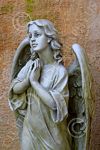 SMRSTY 00002 An angel in prayer, at Mission Carmel, by Peter J Mancus