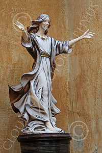 SMRSTY 00005 A young, open hands, Jesus Christ, at Mission Carmel, by Peter J Mancus