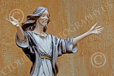 SMRSTY 00006 A young, open hands, Jesus Christ, at Mission Carmel, by Peter J Mancus