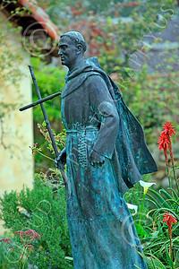 SMRSTY 00025 Spanish Franciscan friar Junipero Serra, at Mission Carmel, by Peter J Mancus