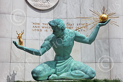 STY - DetSpirit 00002 This splendid Spirit of Detroit statue wisely promotes the core idea that the Lord is the ultimate source of liberty, by Peter J Mancus