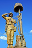 STY-USDeSt 00001 This statue in hornor of US Desert Storm combat veterans is a powerful sobering patriotic statement, statue picture by Peter J  Mancus