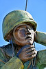 STY-Code Talkers 00011 A tight crop of a statue honoring World War II USMC Navajo Indian code talkers who stumped the Japanese and contributed significantly to the American victory, statue picture by Peter J  Mancus