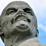 STY-VLenin 0018 A rare surviving Soviet era statute of revolutionary Russian Bolshevik leader and communist party co-founder dictatorial political-econimc theorist Vladimir Lenin, in Odessa, ...