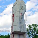 STY-VLenin 0015 A rare, surviving, Soviet era, unpopular in Odessa, Ukraine in 2015, large statue of revolutionary Russian communist party co-founder, dictator, and political-economic theori ...