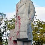 STY-VLenin 0013 A rare, surviving, Soviet era, unpopular in Odessa, Ukraine in 2015, large statue of revolutionary Russian communist party co-founder, dictator, and political-economic theori ...