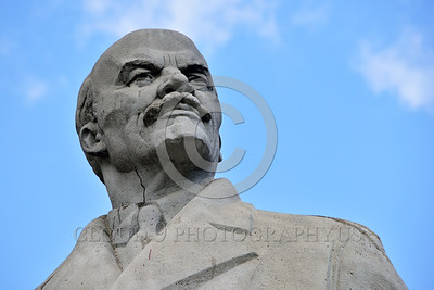 STY-VLenin 0010 A surviving Soviet era statue of Bolshevik revolutionary leader and Russian communist party founder Vladimir Lenin in Odessa, Ukraine, statutory picture by Peter J  Mancus
