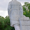 STY-VLenin 0009 Three-quarter rear view of an unpopular statue of Bolshevik leader Vladimir Lenin in Odessa, Ukraine, marked for destruction, statutory picture by Peter J  Mancus