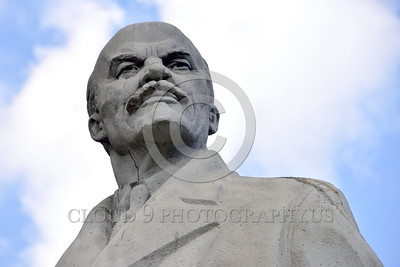 STY-VLenin 0006 A statue portrait of Bolshevik leader, totalitarian dictator, massive human rights violator, and co-founder of Marism-Leninism, Vladimir Lenin, in Odessa, Ukraine, by Peter J  Mancus