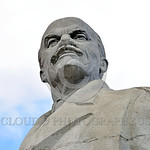 STY-VLenin 0014 A rare, surviving, Soviet era, unpopular in Odessa, Ukraine in 2015, large statue of revolutionary Russian communist party co-founder, dictator, and political-economic theori ...