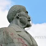 STY-VLenin 0016 A rare, surviving, Soviet era, unpopular in Odessa, Ukraine in 2015, large statue of revolutionary Russian communist party co-founder, dictator, and political-economic theori ...