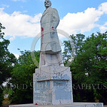 STY-VLenin 0017 A rare, surviving, Soviet era, unpopular in Odessa, Ukraine in 2015, large statue of revolutionary Russian communist party co-founder, dictator, and political-economic theori ...