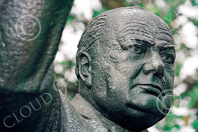 VIPS-Winston S Churchill 00020 A close up of Churchill's face in a wonderful statue of him, statue picture by Peter J Mancus