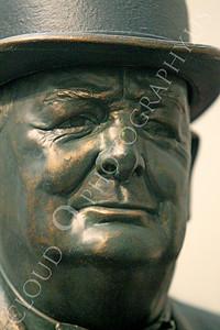 VIPS-Winston S Churchill 00009 A tight crop statuary portrait of England's Prime Minister Winston S Churchill, by Peter J Mancus