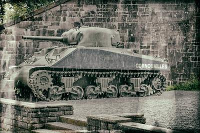 tank in the rain.