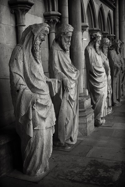 Statues in  Rouen  Gothic Cathedral, France